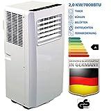 JUNG AIR TV03 mobiles Klimagerät mit Fernbedienung + Abluft-Schlauch - 2,0...